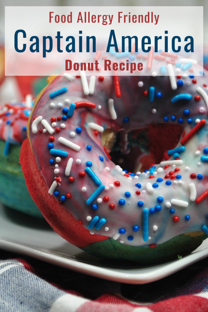 Red, White and Blue Frosted Donuts on a Plate