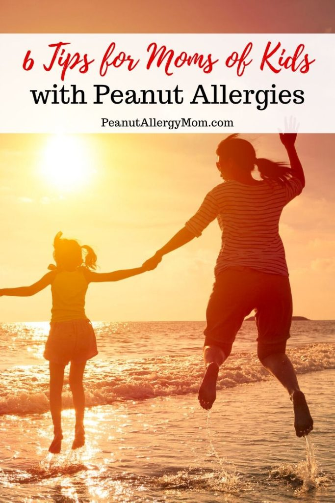 6 Tips for the New Peanut Allergy Mom - Family Jumping up with Joy