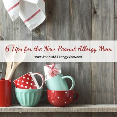 6 Tips for the New Peanut Allergy Mom with cups and wooden spoons in background