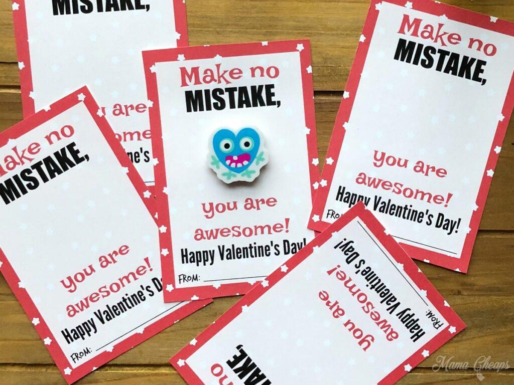 Eraser Valentine Card