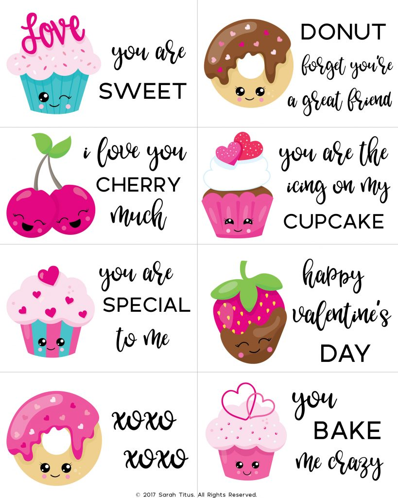 Non-Candy Classroom Valentine - Printable Valentines for Kids