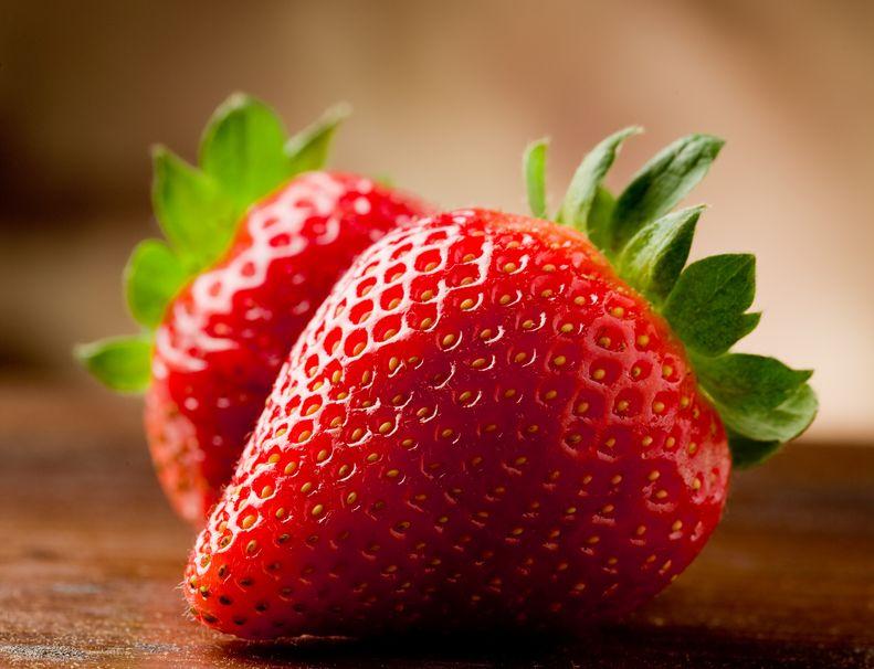 Fresh, ripe strawberries