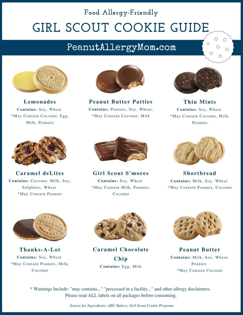 Food Allergy Friendly Girl Scout Cookie Guide