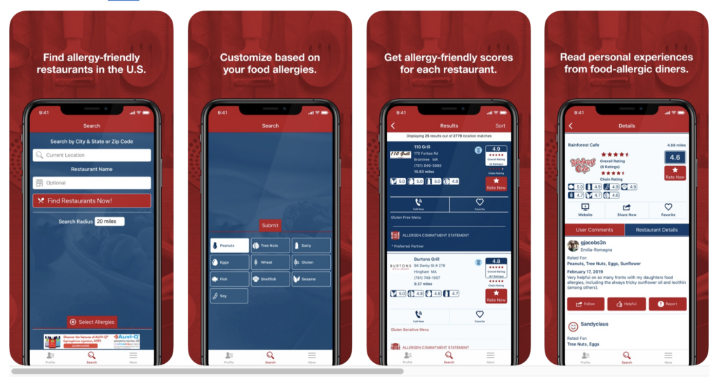 Food Allergy App - Allergy Eats Screenshot