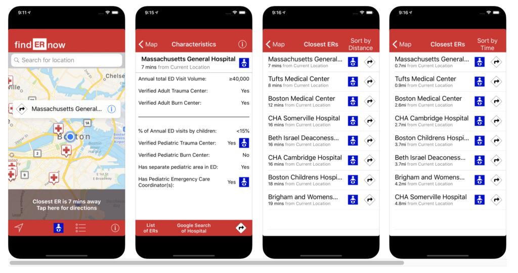 Food Allergy App - EMNet findERnow Screenshot